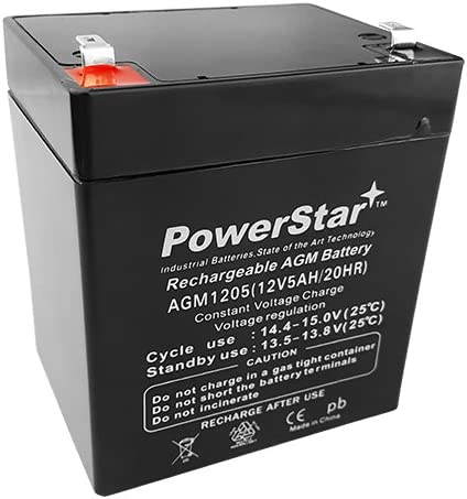 PowerStar-12V 5AH SLA Battery Replaces ca1240 Same day shipping Super Special SALE held pc1250 bp5- ub1250