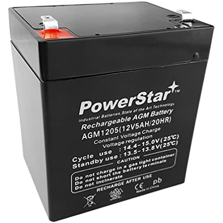 Replacement for Security Systems Rechargeable Chrome Battery 12V 4.5AH SLA Battery