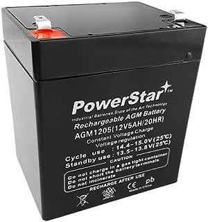 PowerStar 12volt 5ah Alarm Battery (12v 5ah, 12v 5 ah) // F2 Terminals // BLMFM12_5