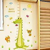 DIY Pegatinas de Pared Póster,Pegatinas de pared extraíbles sala de niños sala de estar cocodrilo de dibujos animados bebé medida de altura regla decoración de la pared pegatinas 120 * 167cm