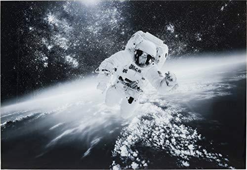 Kare Design Bild Glas Man in the Sky 100x150cm, dunkles Glasbild mit Astronaut im Weltall, modernes Wandbild als Blickfang (H/B/T) 100 150 4