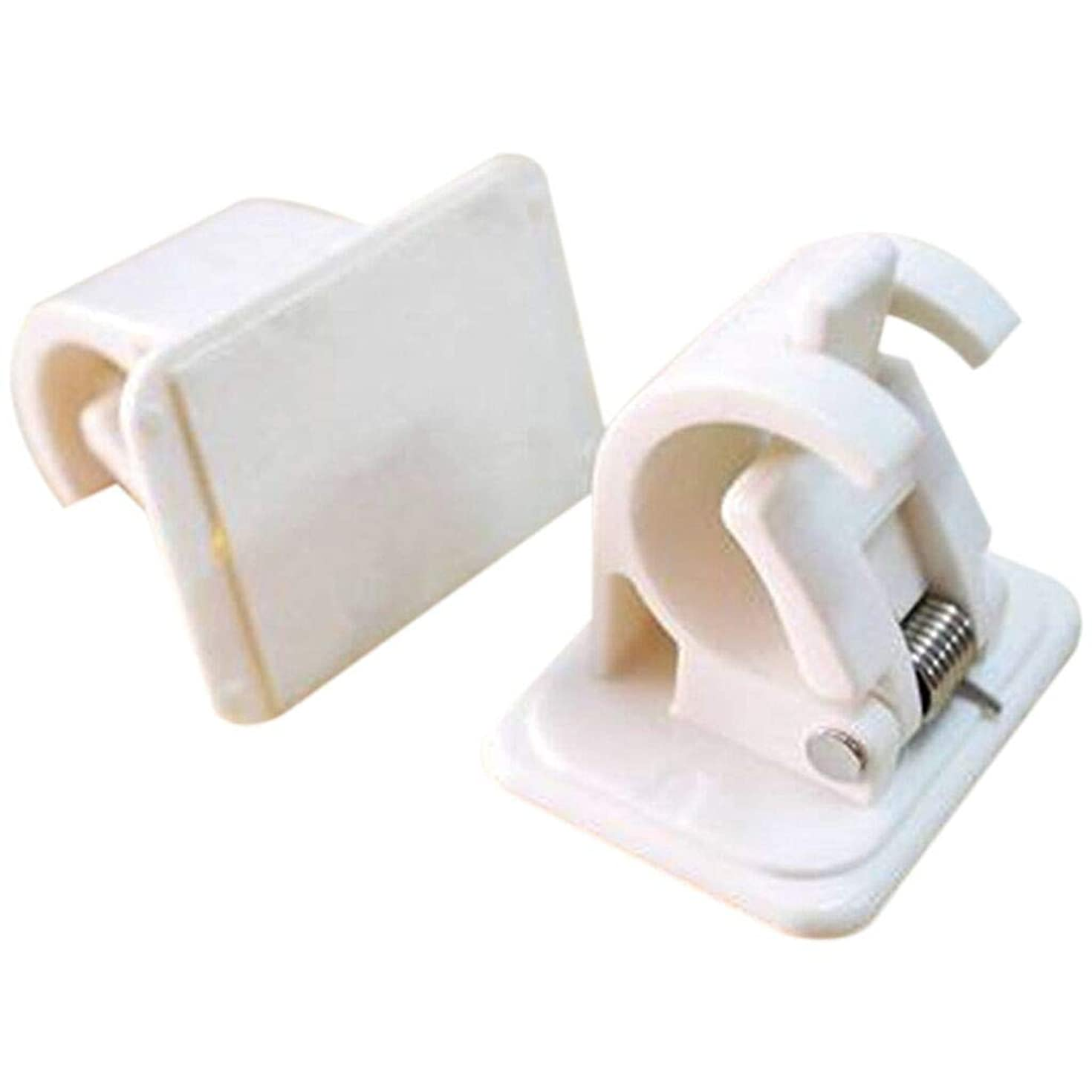 ??Ywoow?? Curtain Holders, Self Adhesive Hooks Rod Bracket Pole Drapery Hook Holders 2PC