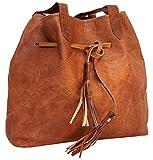 Gusti Umhängetasche Leder - Phoebe Shopper Ledertasche Handtasche Braun