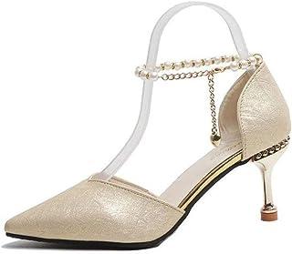 N-X Zapatos de Sandalias Ligeras Casuales para Mujer de Tacón Medio Playa de Verano Dedo del Pie Cerrado Tacón Fino Sandalias Deportivas Sandalias de Chanclas de PU para Mujer