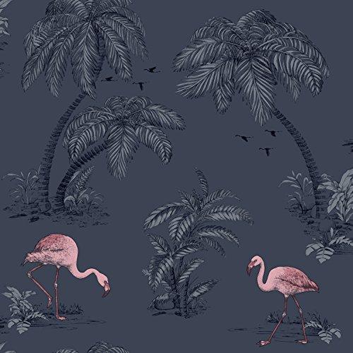 Holden Flamingo Lake Wallpaper - Midnight Blue 12382
