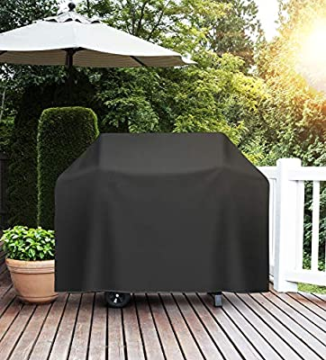iClanda Grill Cover, 600D Heavy-Duty 58 Inch Waterproof BBQ Cover for Weber, Char-Broil Nexgrill Gas Grill, Rip, Dust, Fade & Weather Resistant