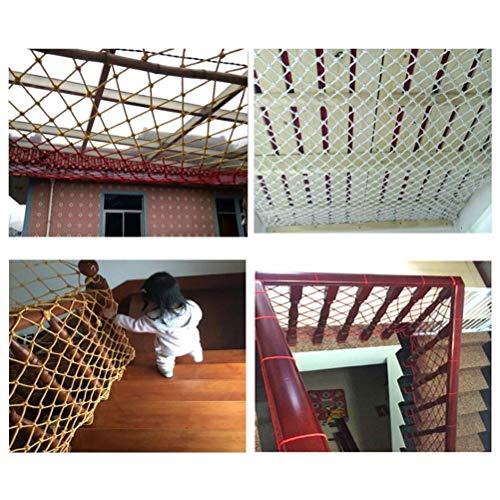WEIFAN Red de protección de Color - barandilla de balcón, Valla de Seguridad para escaleras,Red anticaída de balcón de Estilo Retro, Valla de Seguridad para protección Infantil al Aire Libre