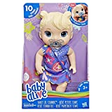 Baby Alive Baby Lil Sounds:Interactive Blonde Hair Baby Doll, Kids Ages 3 & Up, Makes 10 Sounds, with Pacifier