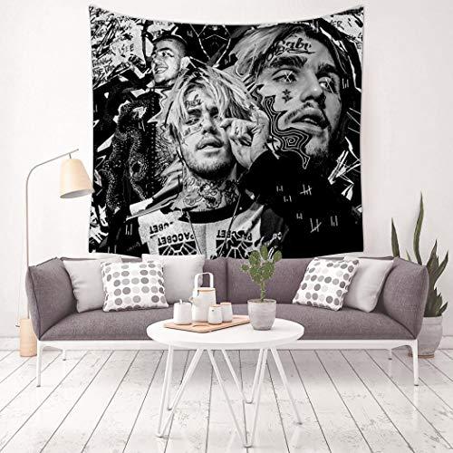 Magicaler Wandteppich, 3D-Druck, Lil Peep, Liedtextilien, Wandbehang Dekoration für Wohnzimmer, Schlafzimmer, Heimdekoration