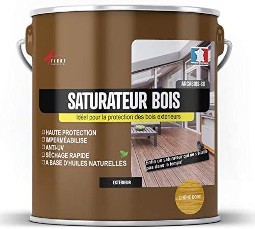 Saturador de madera exótico para terraza, revestimiento exterior: Arcais SB – Caoba (tinte rojo) – 2,5 l (hasta 12,5 m2) – Arcane Indtrues