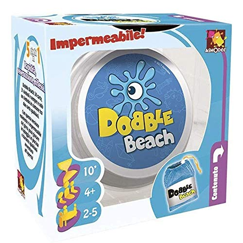 Asmodee Italie Dobble Beach Jeu de table, bleu, dobbeac01it - version italienne