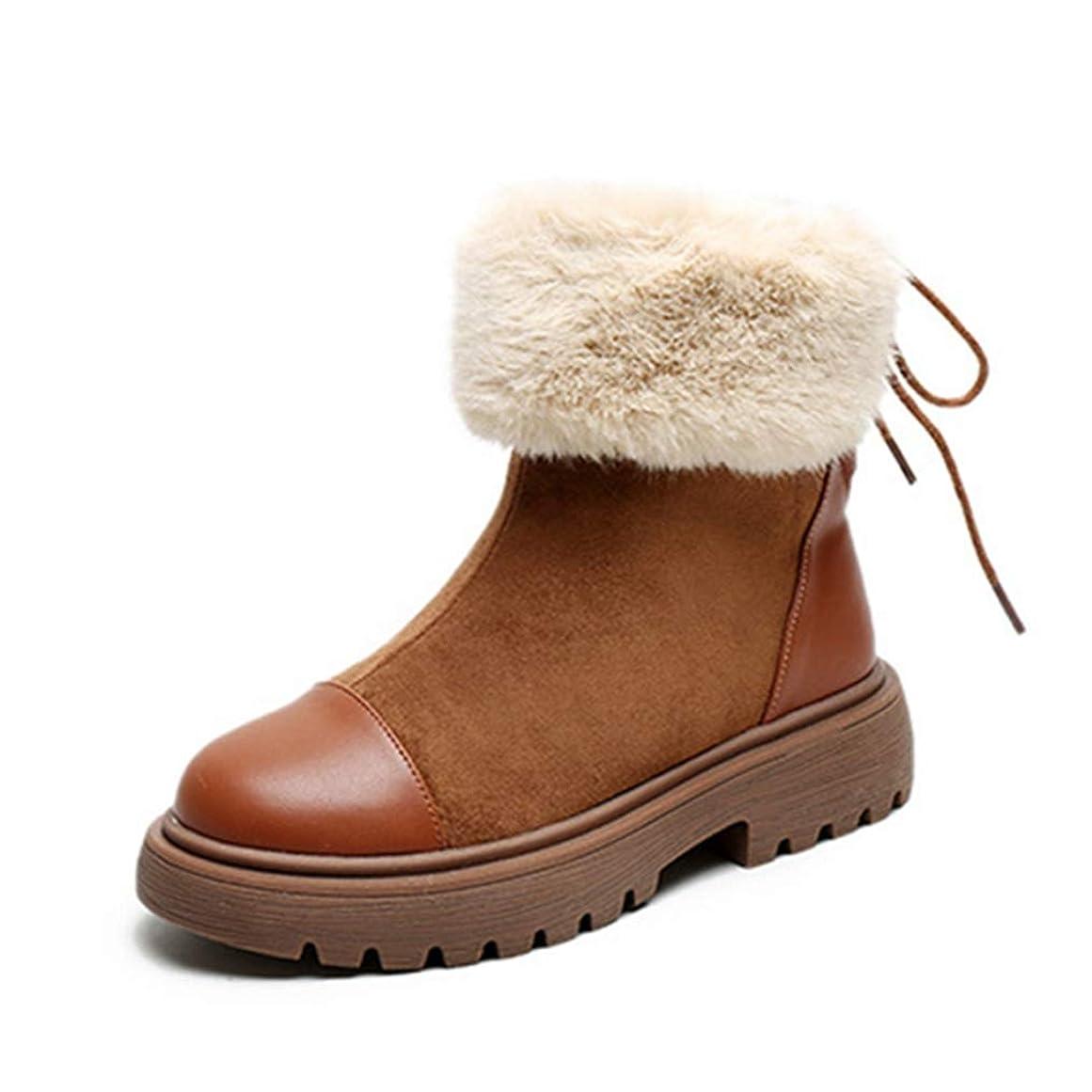 糞ラップ盆地[SENNIAN] スノーブーツ 滑り止め マーティンブーツ レディーズ ショートブーツ ファーブーツ 冬用 裏起毛 防寒 3cmチャンキーヒール ウィンターブーツ 防寒 綿靴 雪靴 通学 通勤用 ふわふわ 女性用 歩きやすい