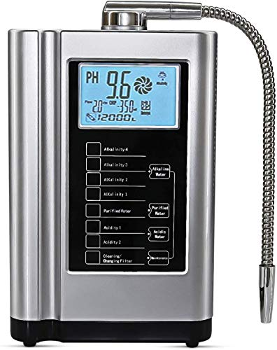 AquaGreen Alkaline Water Machine AG7.0, pH 3.5-10.5 Water Ionizer, Home Water Filtration System, Up to -500mV ORP, 6000 Liters Per Filter, Smart Voice, Auto-Cleaning, Silver