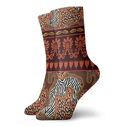 Asa Dutt528251 Geometrical Animal Print Abstract Pattern Calcetines de tobillo Casual Divertido para botas...