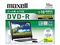 maxell 16倍速対応データ用CPRM対応DVD-R4.7GB20枚1枚ずつプラケース プリント対応ホワイト DRD47WPD.20S