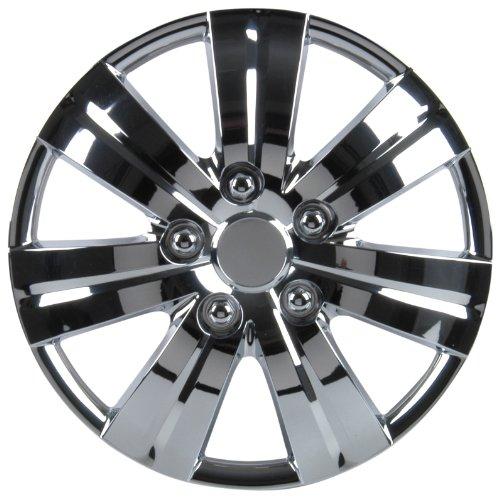 Unitec 75161 Premium- Radzierblenden 4er- Satz Monaco, chrom 33 cm (13 Zoll) - 4-er Set