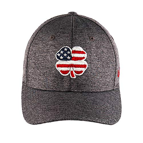 USA Flag Heather Flex Cap, USA Flag Clover/Charcoal (S/M)