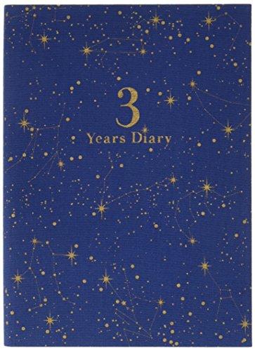 アーティミス 日記帳 3年連用 星座 紺 DP3-SE NV B6