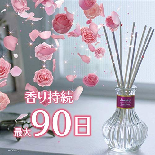 サワデー香るスティック日比谷花壇セレクト消臭芳香剤本体スウィートローズ70ml