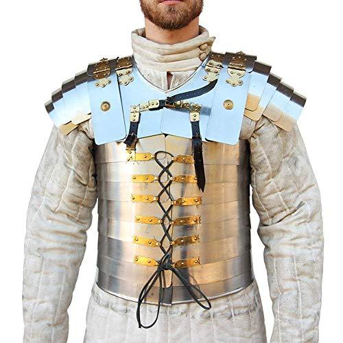 AnNafi Lorica Segmentata Römischer Soldat Militäranzug 20 g Stahl - Mittelalter Krieger Kostüm SCA LARP