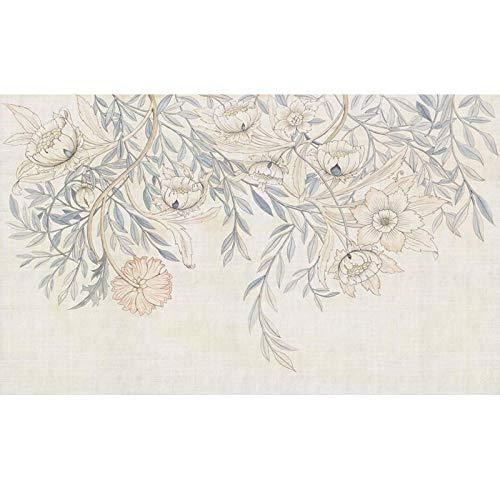 Papel Pintado Europeo Y Americano Papel Pintado De Flores Retro Villa Sala De Estar Tela De Pared Sofá Mural Personalizado-400 * 280Cm
