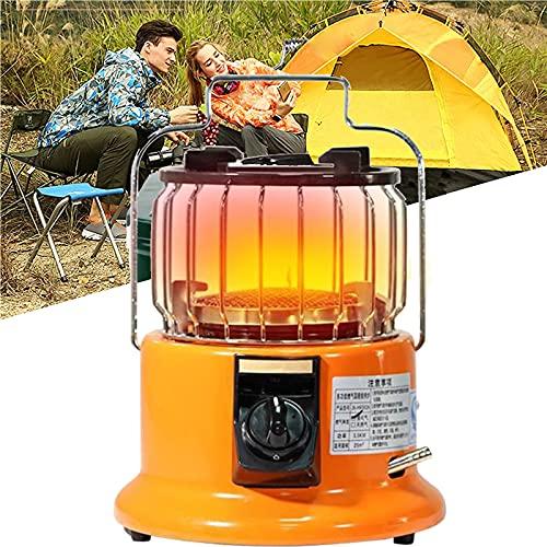 ZHANGLE Estufa de Gas para Acampar al Aire Libre Calentador de Tienda de campaña, Mini Hoguera portátil Multifuncional con Manto Calefactor, para Pesca en Hielo, Senderismo, Caza,Liquefied Gas