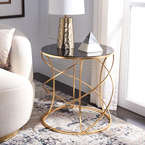 Safavieh Cagney End Table Finish: Gold/Black