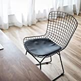 QAZX Chaise de salle à manger de style nordique simple Accueil Retour Tabouret Bureau maquillage Chaise Hôtel moderne Lumière de luxe Fer Forgé Table à manger Chaise (Color : Noir)