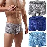 MAKEIIT 32 Cool Underwear Boxers for Men Flyless Boxer Briefs Pouch Boxer Briefs