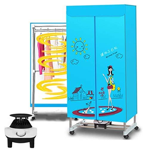 QIMO Tragbarer Wäschetrockner Elektrisch Faltbar Haushaltsklapp-Trockenmaschine Einstellbarer Timer Geräuscharm Für Zuhause, Wäscherei, Wohnung