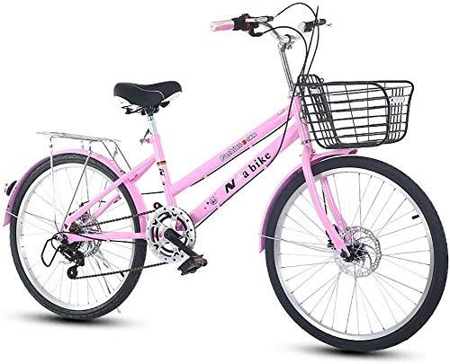 LJXiioo Vélo Pliable, vélo de Ville léger 7 Vitesses Facile à Installer pour Adulte Unisexe, Plusieurs Couleurs,A,22IN
