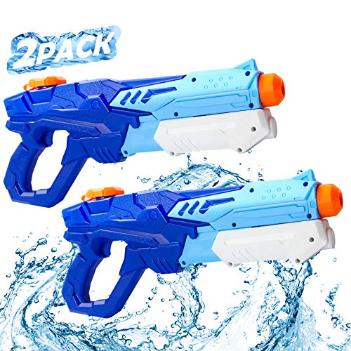 MTOUOCK Water Guns for Kids, 2 Pack Super Soaker Blaster Water Guns for Kids & Adult,600CC High Capacity,Gifts for Boys and Girls Outdoor Swimming Pool Party Refresh Summer