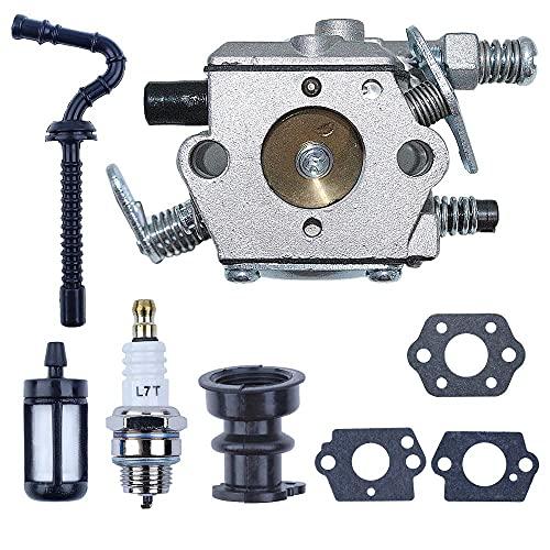 Carburador Junta de carburador Tubo de manguera de combustible Filtro Bujía Piezas de muesca superior para Stihl Ms250 Ms230 Ms210 Ms 25023021025025023021 Piezas de motosierra (Color : China)