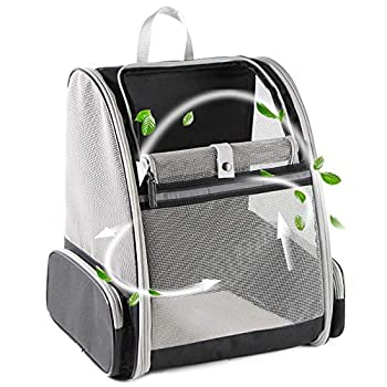 Texsens Innovative Traveler Bubble Backpack Pet Carriers for Cats and Dogs  Grey