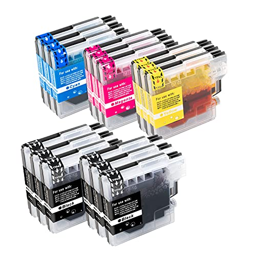 B-T Kompatibel Tintenpatronen Ersatz für Brother LC980 LC1100 für Brother DCP 195C 145C 165C 185C 6690CW 375CW MFC 250C 5890CN 490CW 5895CW 6490CW 255CW 490CW 6890CDW 290C Patronen (15 Pack)