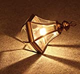 IGOSAIT Candelabro, Lámpara colgante ajustable de lámpara de altura ajustable creativo transparente vidrio oro cobre luces colgantes e27 romántico colgante lámpara decoración lámparas colgantes dormit