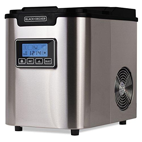 Black + Decker BIMY126S WACDBIMY126S – Máquina para hacer hielo de acero inoxidable (26 lb)