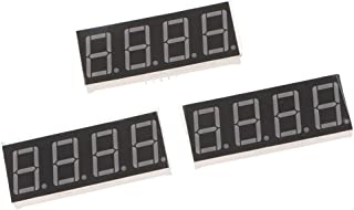 """Baosity 3Pcs 4 Digit 7 Segement 0.56"""" Red LED Displays Common Cathode with 12 Pins"""