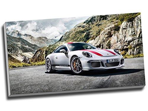 Sportwagenkunstdruck auf Leinwand, Motiv: Porsche 911R,  76,2 x 40,6 cm,