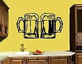 jiushivr Tazas Calcomanía de Pared Decoración de Cocina Bar Cerveza Alcohol Bebida Pegatinas de Vinilo de Pared Muraux adesivo de Parede Extraíble Hogar decorativo150x84cm
