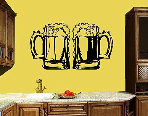 Mok muur stickers keuken decoratie bar bier alcohol dranken muurstickers vinyl stickers verwijderbare huisdecoratie <> 90x50cm