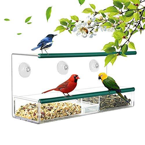 Ritapreaty Venster Vogelvoeder, Vogelvogel Vogelvoedermachine voor Wild Bird Finch Blue Bird Overige Acryl Huisdier Feeder 30 x 10 x 14cm