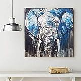 África animal elefante pinturas abstractas arte lienzo impreso cuadros para sala de estar arte pared fotos decorativas-60x60cm ningún marco