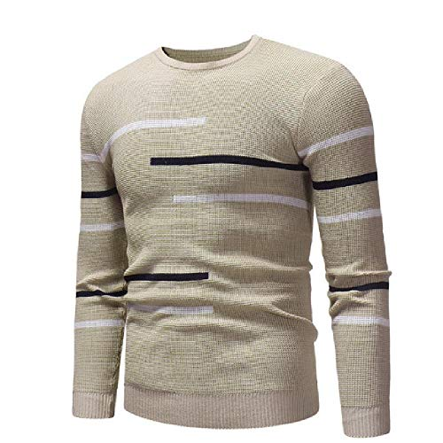 Preisvergleich Produktbild NOBRAND Herren Pullover Rollkragen Solid Color Casual Sweater Herren Slim Fit Marken-Strickpullover Gr. Medium,  braun