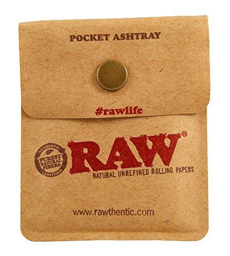 RAW Pocket Ashtray Taschenaschenbecher für Unterwegs 3 Pocket Ashtrays
