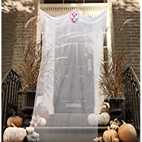 Hoojo 12-Ft Halloween Ghost Hanging Decoration with Scary Laughing Sound