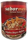 SABORMEX Frijoles Bayos Refritos 3,170 kg Lata Grande de Frijoles Lista para Consumir Alubias Mexicanas para Tamales Quesadillas Fajitas Burritos