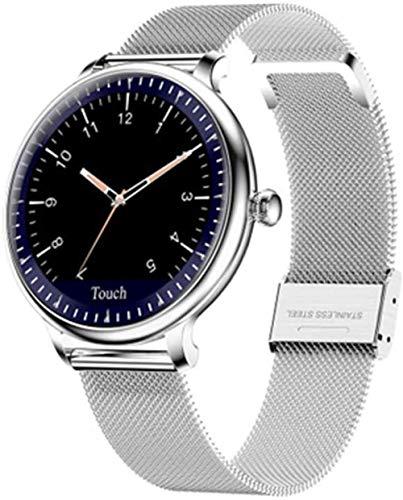 Reloj inteligente para mujer de acero oro rosa impermeable reloj inteligente recordatorio pulsera de señoras - C