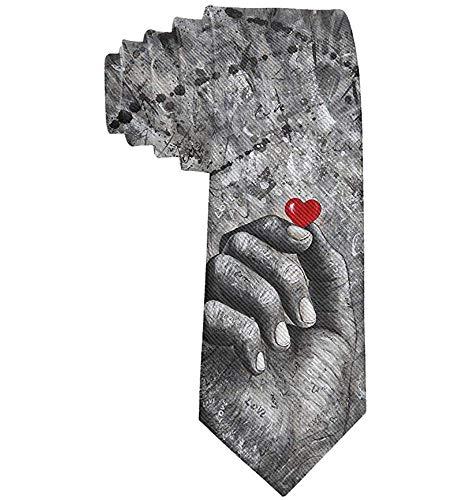 Anna-Shop heren geeft u mijn rode hart klassieke stropdas pak heren stropdas