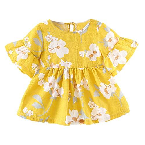Allence Baby Mädchen Kleid Säuglings Aufflackern-Hülsen-Blumen-Blumendruck-Prinzessin Dress Clothes